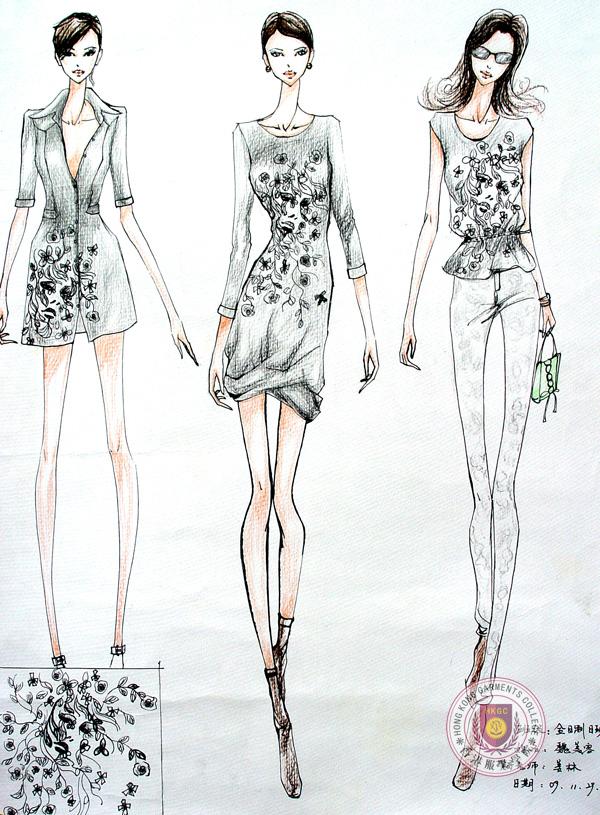 学生服装效果图片系列作品_设计效果图_香港服装学院